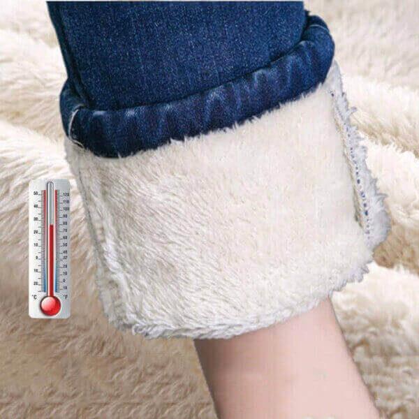 SUPER WARM STRETCH DENIM PANTS