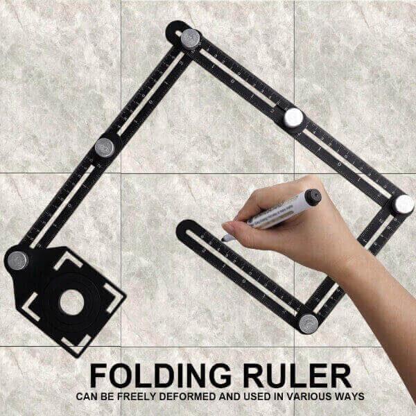 6 FOLDING MULTI-ANGLE MEASURING RULER