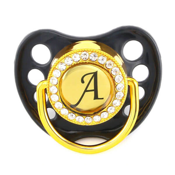 NAME INITIAL LETTERS BABY PACIFIER