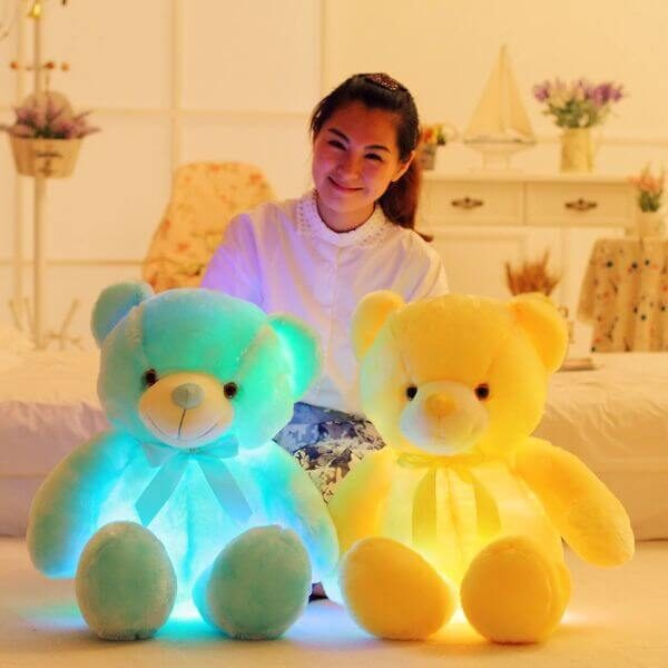 50CM COLORFUL GLOWING BEAR TOY