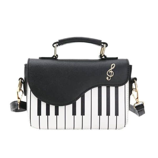 FASHION PIANO PATTERN CROSSBODY BAG