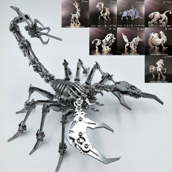 3D ANIMAL METAL PUZZLE
