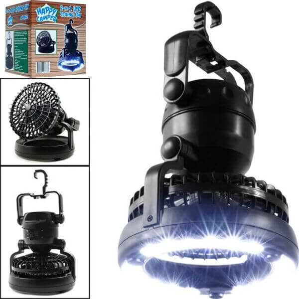 2 IN 1 LED CAMPING LANTERN WITH COOLING FAN
