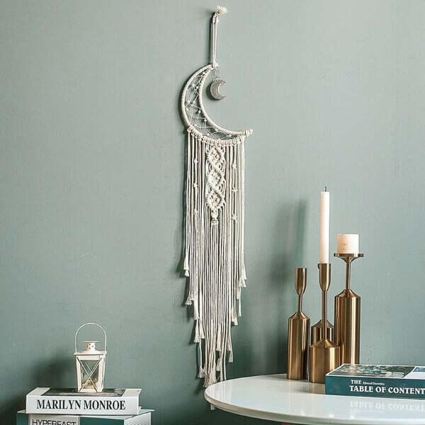 MACRAME DREAMCATCHER HAND KNOTTED TAPESTRY