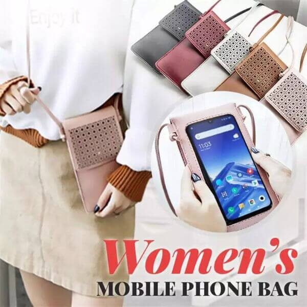 TOUCHSCREEN WATERPROOF LEATHER PHONE BAG