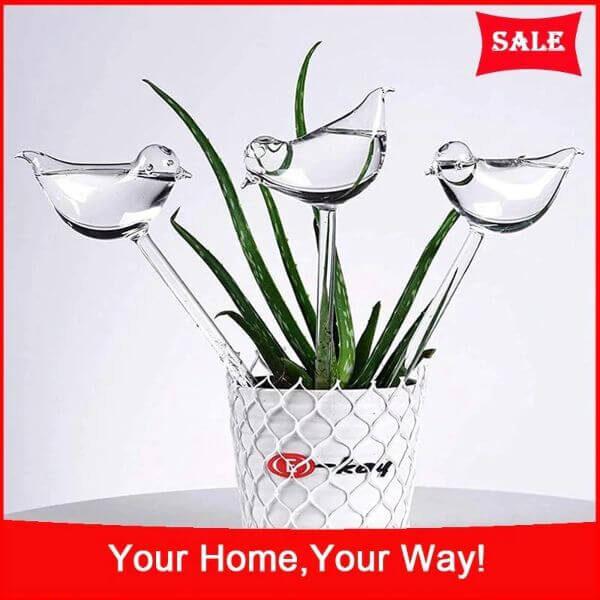 3 PCS SELF-WATERING PLANT GLASS BULBS ( 3 PCS)