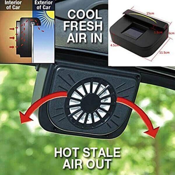 SOLAR POWER AIR VENT COOLING FAN