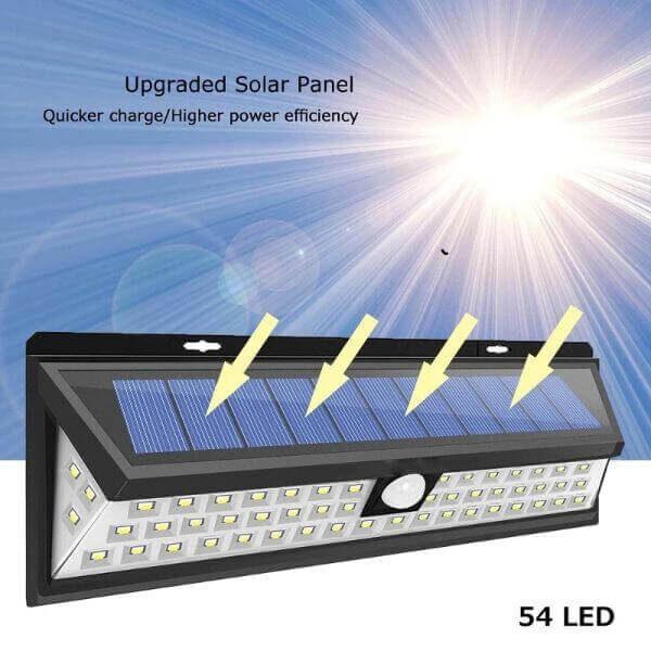 OUTDOOR 54 LED SOLAR LIGHTS