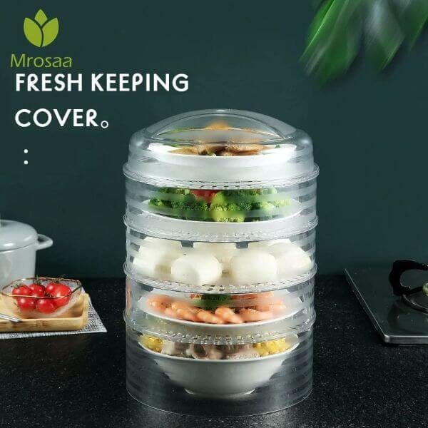 FIVE-LAYER TRANSPARENT FOOD STACKABLE CONTAINERS