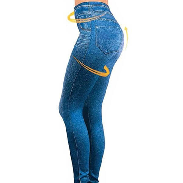 PERFECT FIT STRETCH PULL-ON JEANS LEGGINGS