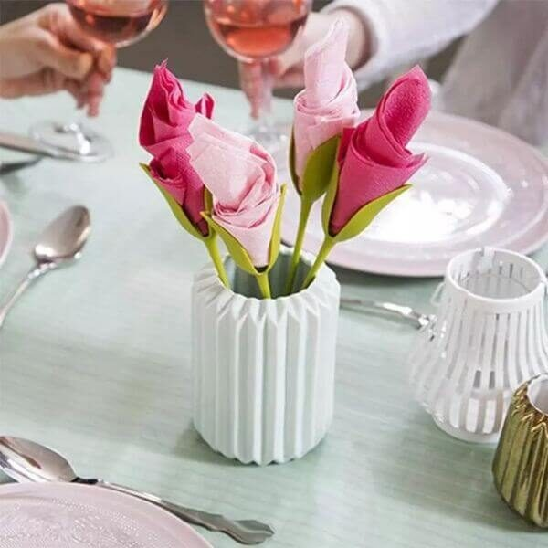 CREATIVE ROSE NAPKINS HOLDERS