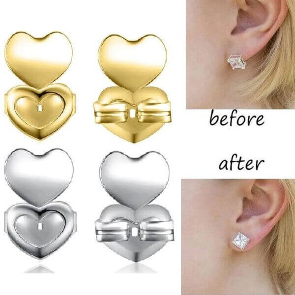 EARRING LIFTERS FOR STRECHED EARLOBES