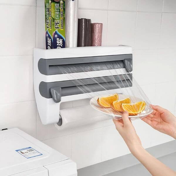 WALL-MOUNT 4 IN 1 PAPER TOWEL HOLDER