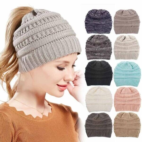 LEISURE PONYTAIL BEANIE