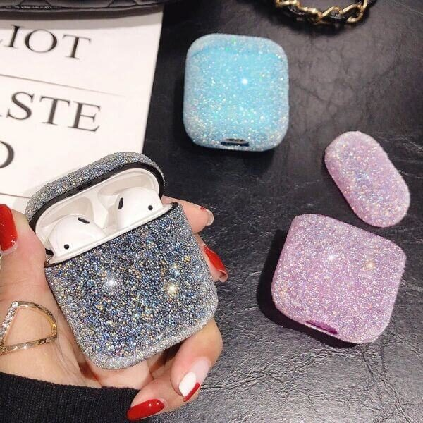 LUXURY CRYSTAL BLING CANDY COLOR EARPHONE CASE