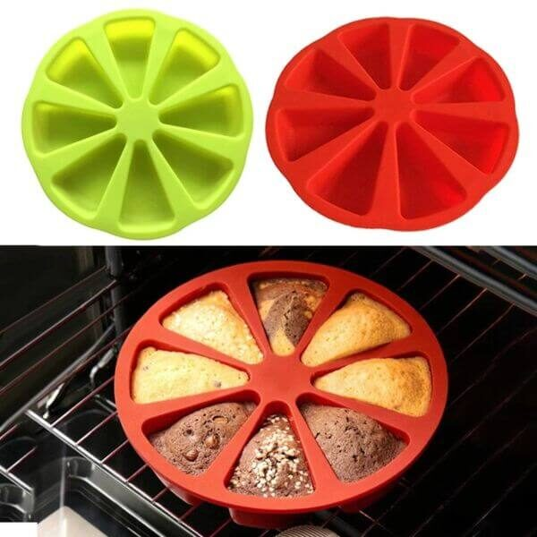 8 SLICES SILICONE CAKE MOLD