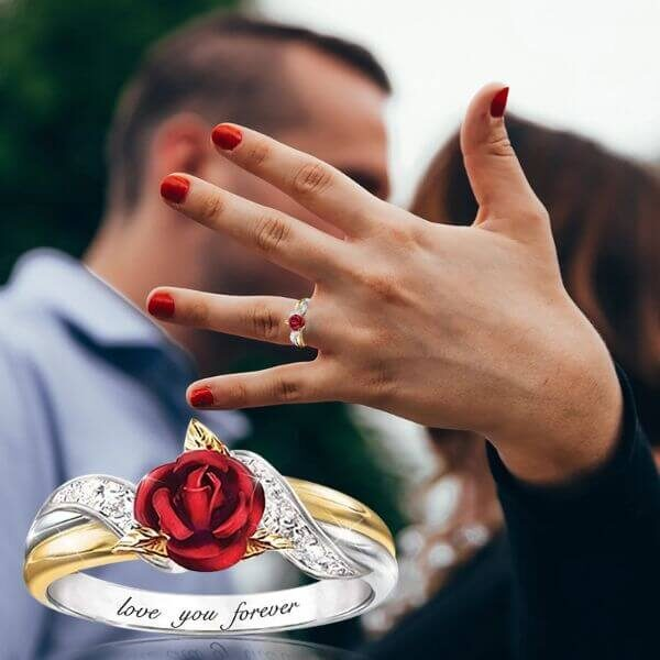 LOVE YOU FOREVER CREATIVITY ROSE RING