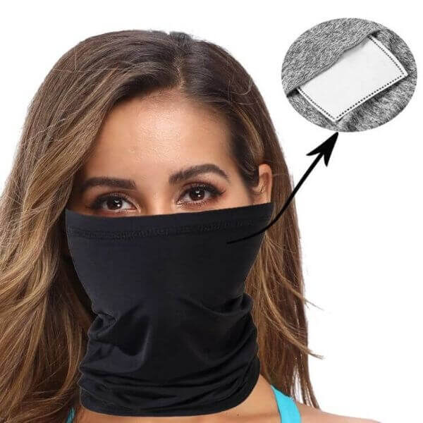 SPORTS BANDANA WITH CHANGEABLE FILTERS