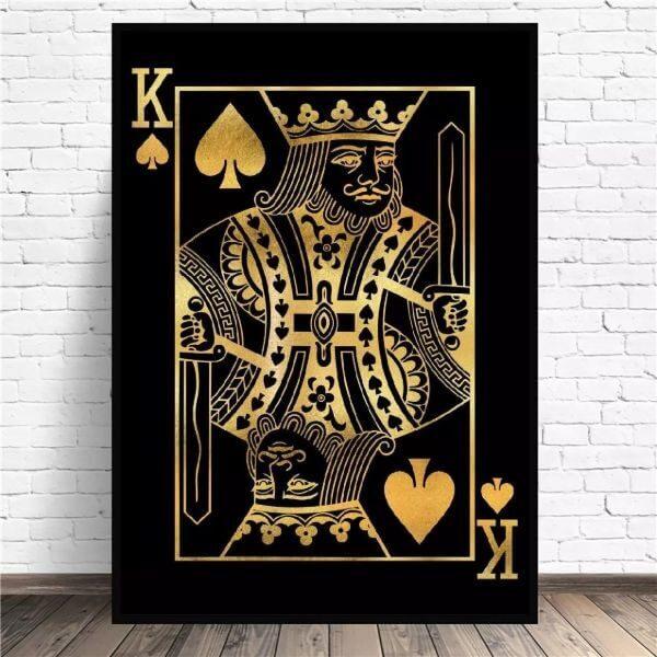 ART PRINT DECORATION KING OF SPADES