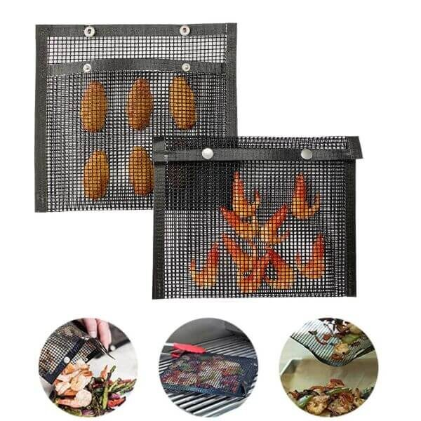 EXTRA-TOUCH GRILLING MESH BAGS