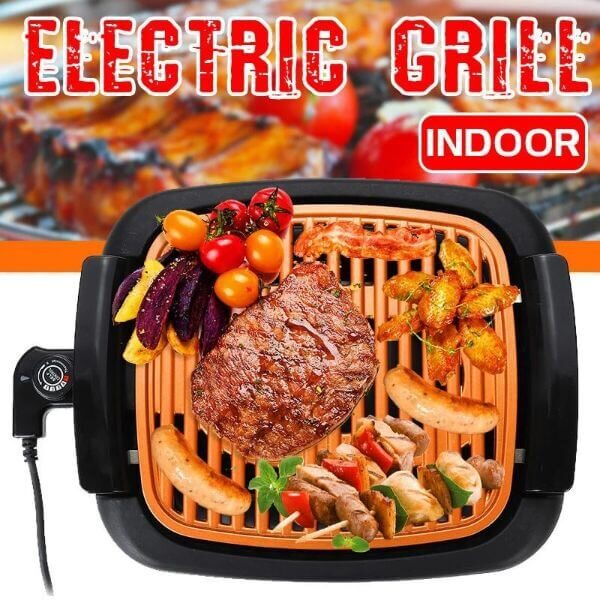 SMOKELESS ELECTRIC GRILL INDOOR BBQ