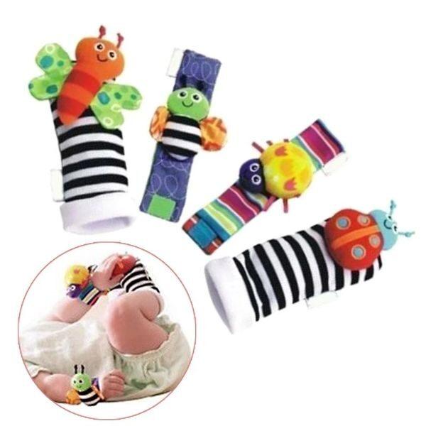4PCS CUTE ANIMAL SOFT BABY SOCKS TOYS