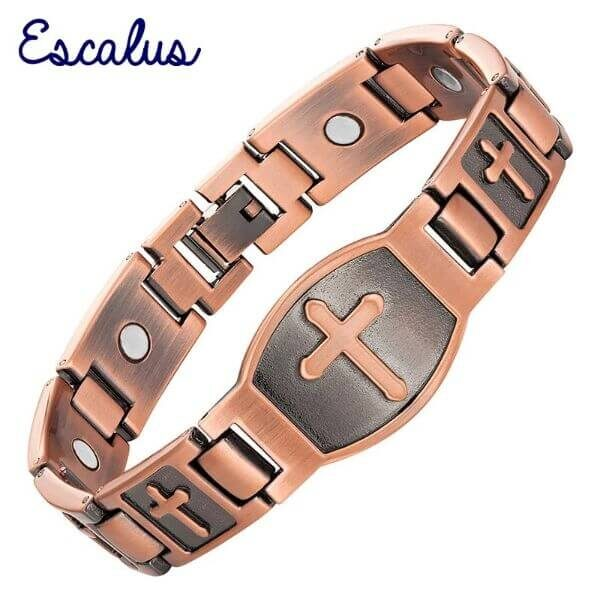 MAGNETIC ESCALUS CROSS BRACELET