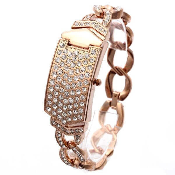 STAINLESS STEEL RHINESTONE WOMEN WATCH