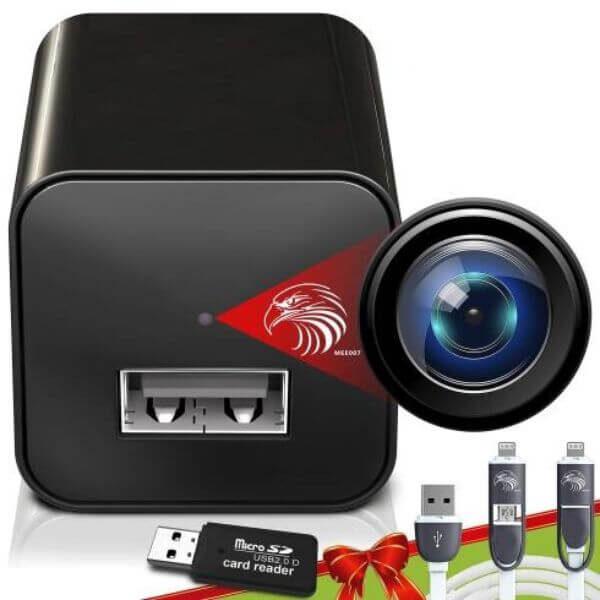 WIRELESS WIFI MINI CAMERA USB CHARGER