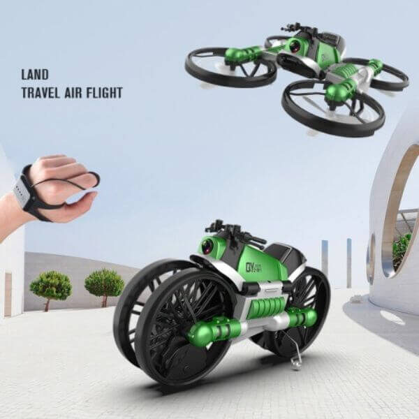 2 IN 1 FOLDABLE DRONE MOTORCYCLE