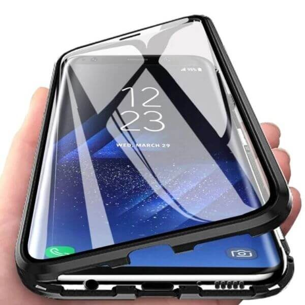 DOUBLE-SIDED PROTECTION GLASS PHONE CASE