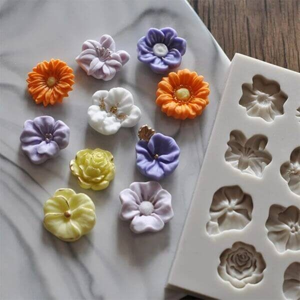 FLOWERS SHAPE SILICON MOLD