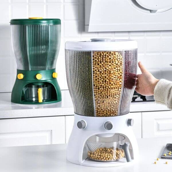 ROTATABLE KITCHEN DRY FOOD DISPENSER