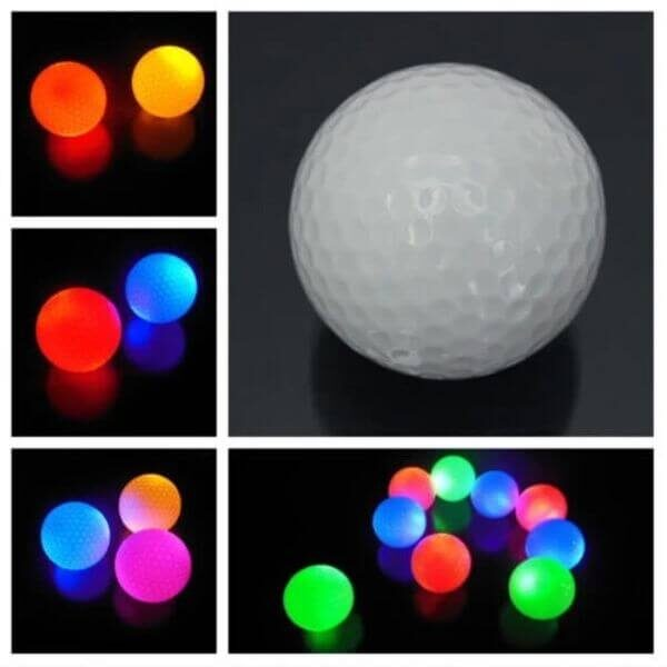 GLOWING GOLF BALLS