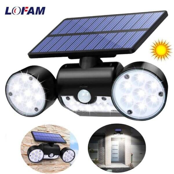 SOLAR POWERED LED SPOTLIGHT