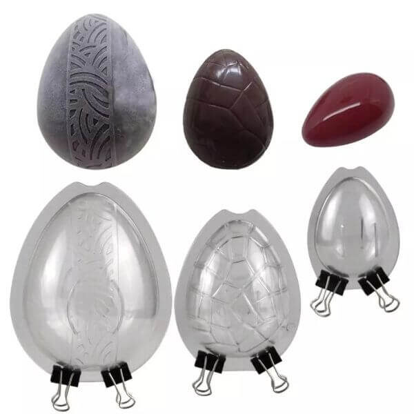 3PCS 3D CHOCOLATE EASTER EGG MOLD