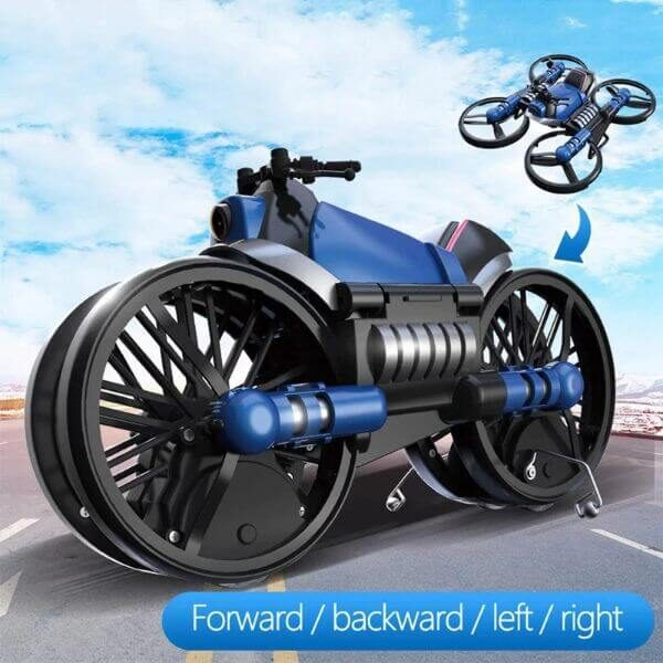 2 IN 1 MOTORCYCLE FOLDING RC DRONE